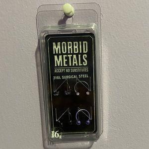 NWT Morbid Metals Horseshoes (Black and Purple)